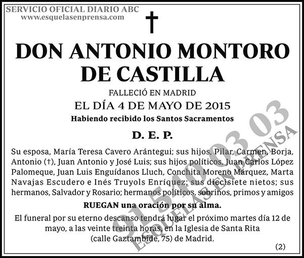 Antonio Montoro de Castilla